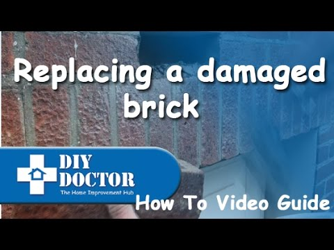 Replacing a single damaged brick in a wall