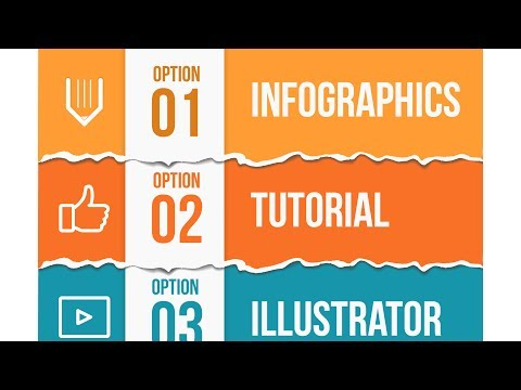 How to create torn paper infographics template. Adobe Illustrator tutorial