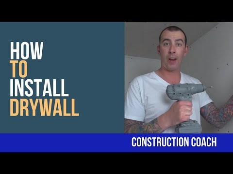How to Install Drywall - DIY Tips and Tricks