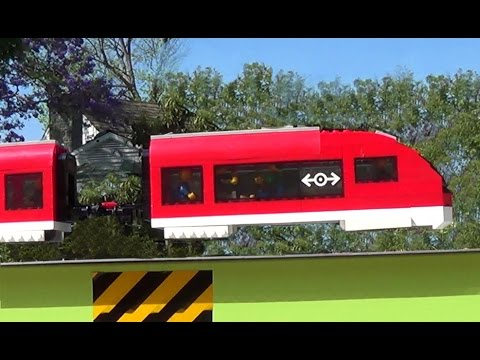 How to hover a  Lego train. True magnetic levitation