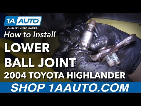 How to Install Replace Front Lower Ball Joint with Stuck Rusty Cotter Pin 2001-2007 Toyota Highlande