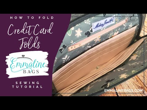 How to Fold Fabric for Credit Card Slots in your Emmaline Patterns.