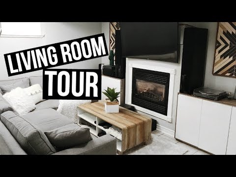 LIVING ROOM TOUR | Our First Apartment