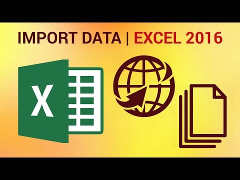 How to Import Data from the Web into Excel 2016