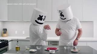 Cooking with Marshmello: How to Make a Steak (Father