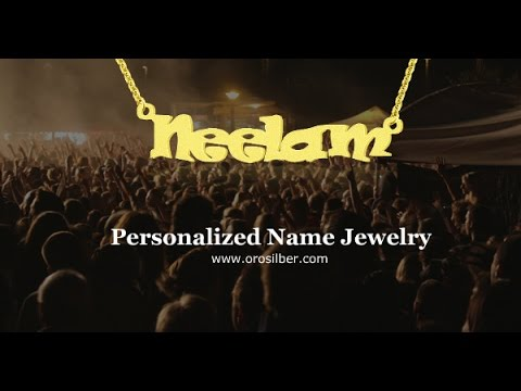 Custom Personalized Name Necklaces - Jewelry REVIEW  in Hindi