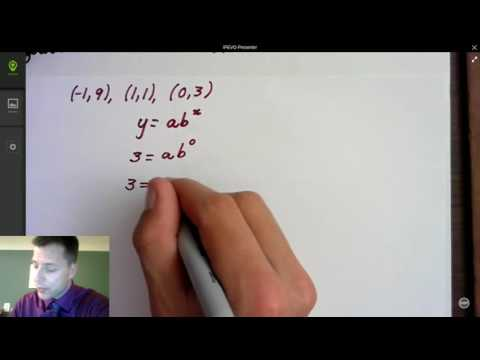 Finding an exponential function given its graph part 1