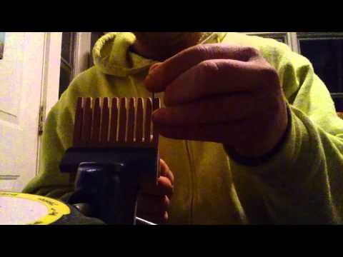Forming wooden comb teeth with a needle rasp