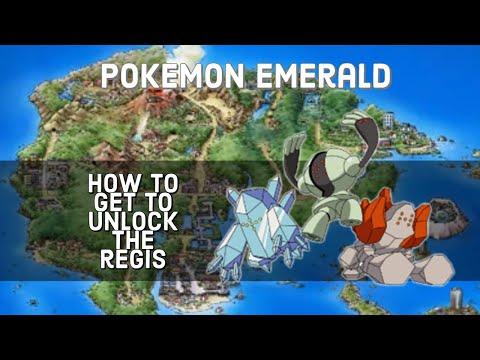 How to unlock Regi Pokemon guide for POKEMON EMERALD