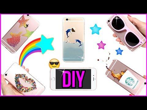5 DIY Phone Case Designs! How To Make Liquid, Mini Starbucks, Candy, Unicorn-Easy Phone Cover DIYs