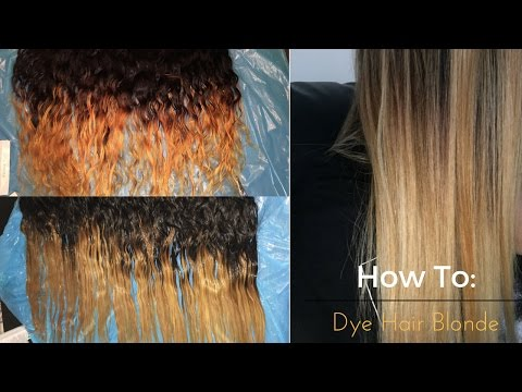 HowTo: Get Rid of Brassy Weave | Dying Hair Blonde