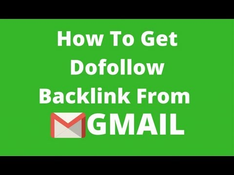 How to get BackLink From Gmail Account