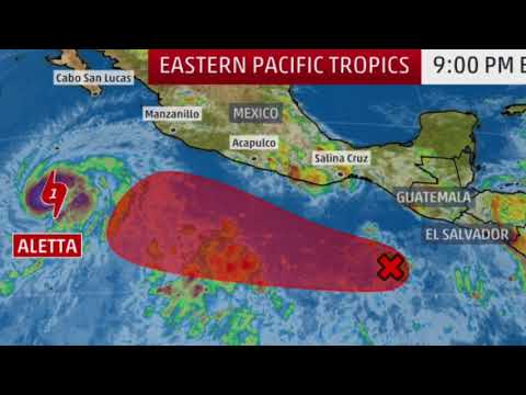 Storm Aletta Tropical Storm Aletta could 'turn into first hurricane of season'