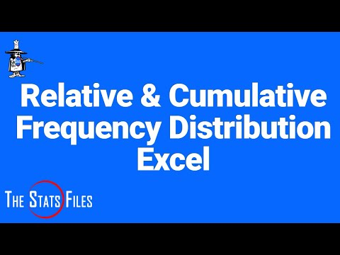 Relative and Cumulative Frequencies using basic Excel