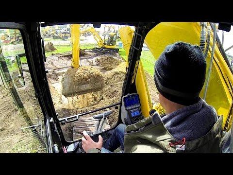 Komatsu HB215LC-2 Hybrid Excavator Test Drive @ E&H 15
