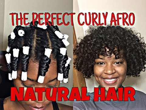 The PERFECT Curly Afro Tutorial With Natural Hair