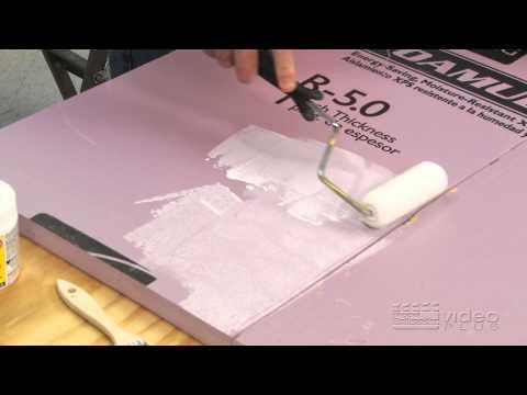 Family Train Layout: episode 2 - install foam scenery board