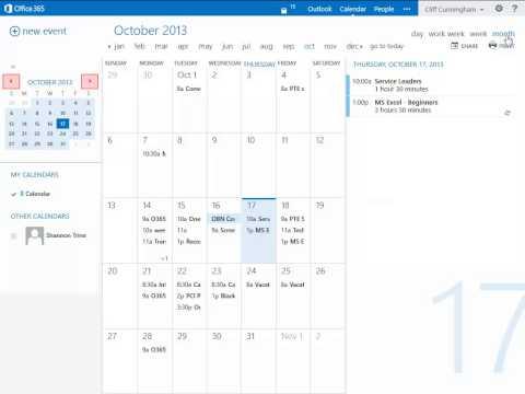 Office 365: Calendar - Views