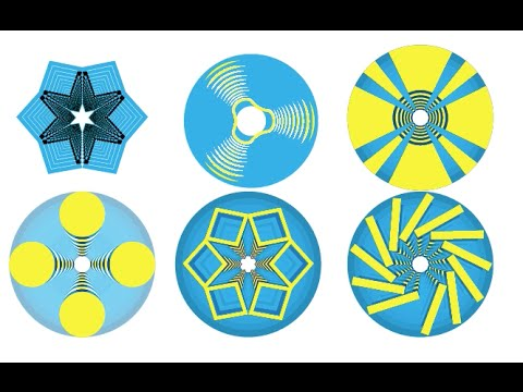 Creating Patterns With InDesign Concentric Circles, Stroke Styles and Blending Modes