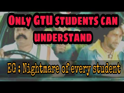 Only gtu students can understand😂 | EG:The nightmare of GTU students
