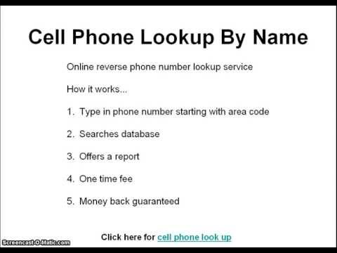 Cell Phone Lookup By Name