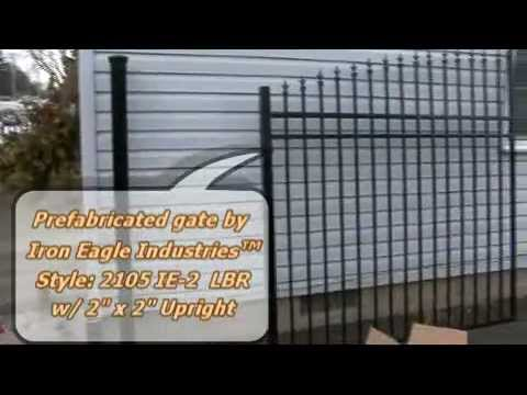 Installation of a double swing gate