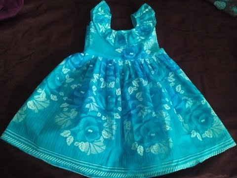 SIMPLE FROCK CUTTING, KIDS UMBRELLA SKIRT CUTTING AND STITCHING