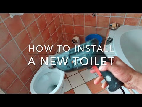 How to install a new toilet