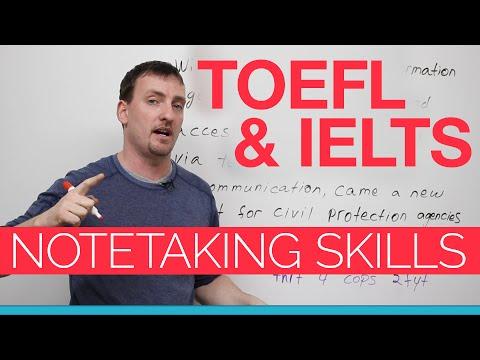 TOEFL & IELTS skills - Notetaking