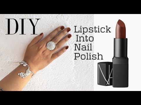 DIY : Turn Lipstick into nail polish
