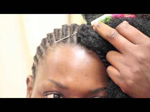 #01 How to Crochet Kinky Twist on relaxed short hair
