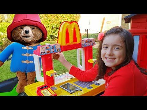 Paddington Bear Pretend Play going to McDonald's