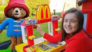 Paddington Bear Pretend Play going to McDonald