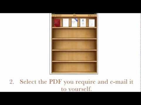 Transfer a PDF to your iBook libary using iPad, iBooks Apple (UK) Education Textbooks for iPad