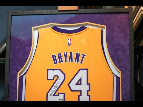 Framing a Signed Kobe Bryant Lakers Jersey
