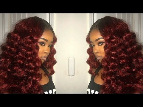 NO BLEACH! DIY DYING HAIR BURGUNDY/RED 🍒 with Unice Hair   Pitts Twins