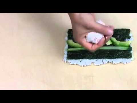How To Make An Inside Out California Roll - How to Make Sushi Ginger 2015