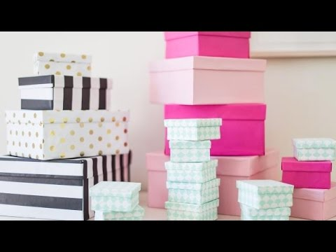DIY Paper Covered Boxes