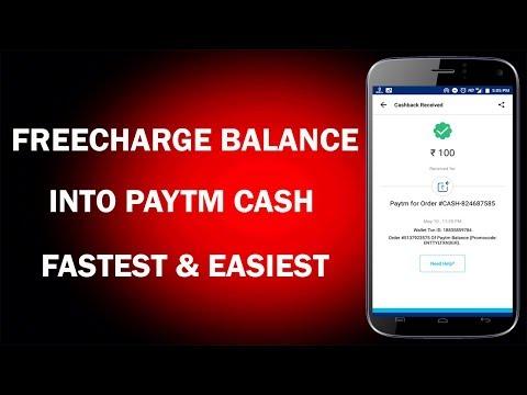 Transfer Freecharge Balance into Paytm Account !! Freecharge Send Money trick !! Best Trick 2018 !!