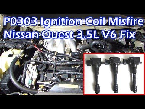 Nissan 3.5L V6 Ignition Coil Misfire - P0303 Cylinder 3 Misfire