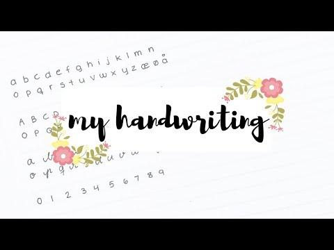 Handwriting tag + Evolution of my handwriting | studytee
