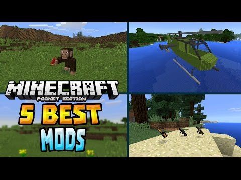 5 BEST MODS for MCPE!!! - Creatures, Vehicles & MORE - Minecraft PE (Pocket Edition)