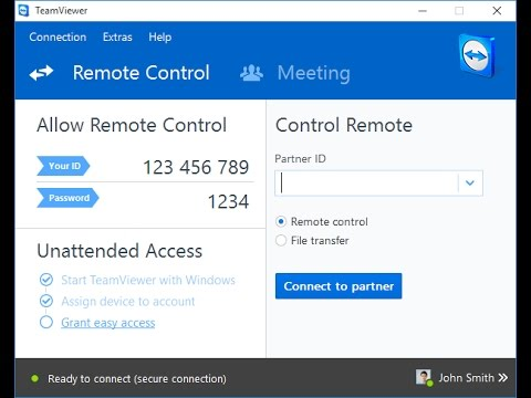 take control over teamviewer of friends or family and access their PC remotely