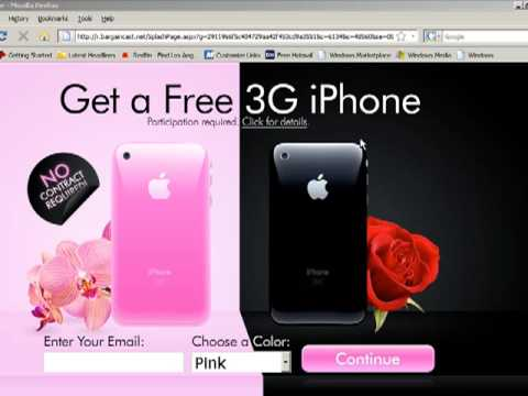 Get a FREE iPhone 3G phone  Now!! Watch video to learn more.