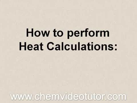Chemistry Regents: Basic Heat Calculations using Q=mCΔT