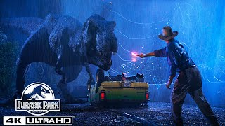 The T. Rex Escapes the Paddock in 4K HDR   Jurassic Park