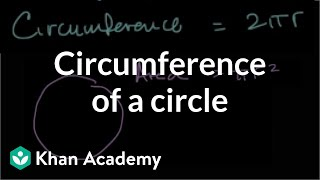 Circumference Of A Circle Geometry 7th Grade Khan Academy