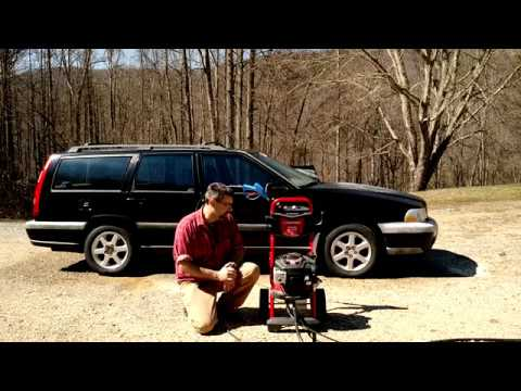 Troy bilt 2800 PSI Pressure Washer. A Review And Demonstration.