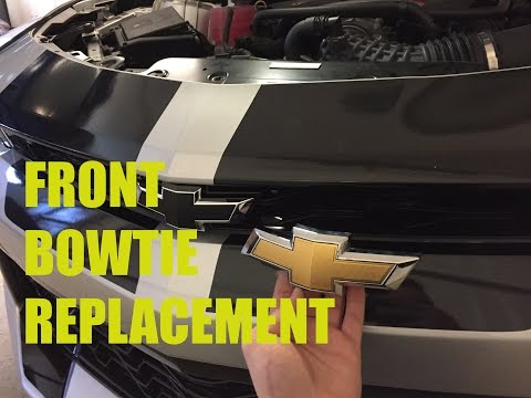 2016 Camaro SS Front Emblem Replacement! Goodbye Gold!