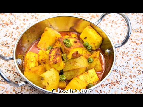 Bengali Aloo Paneer Dalna/ Rasa - Recipe by Foodie's Hut #0119